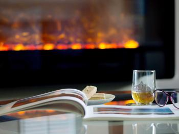 A dram and a read by the fire.