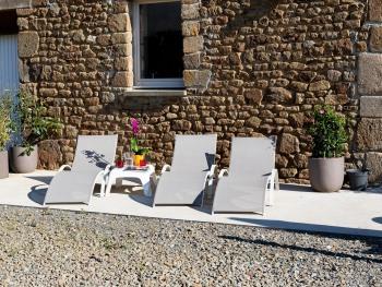 terrasse, bains de soleil