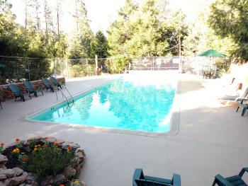 Our pool in the pines