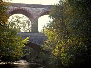 View of the viaduct opposite from the river walks within our grounds.