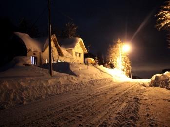 Le col de nuit en hiver...