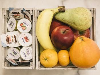 Frutta e altro a disposizione dei gentili ospiti
