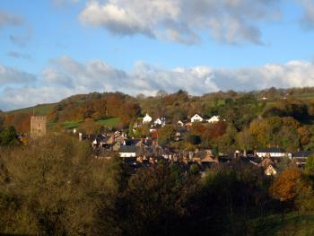 View over  Bampton