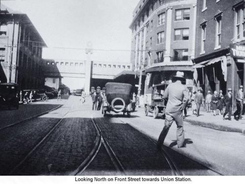 Picture of Historic Wilmington looking north to the old Atlantic Coast Railroad depot.