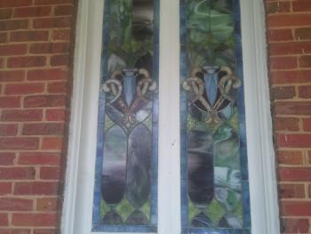 Imported Italian stained glass throughout the home
