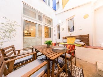 Le Jacobin - Appartement en duplex - Le patio extérieur