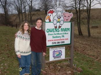 Your hosts, David and Caroline Owens