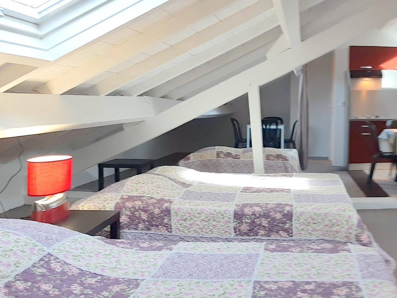 Appartement en attiq-Famille-Vue sur la campagne-au 2  étage-Salle de bain privée séparée - Tarif de base