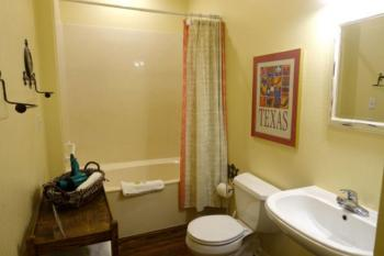 Texas Cottage Bathroom #2 - with tub/shower & stackable washer & dryer