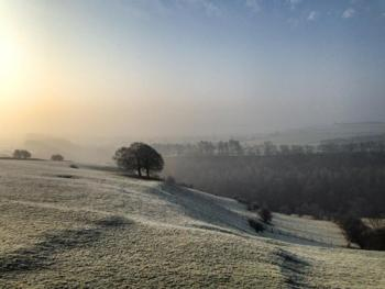 A frosty morning overlooking Lathkill Dale