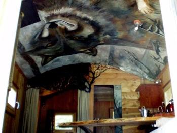 Tanières des loups vue d'intérieur