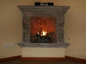 Huipil Room Fireplace