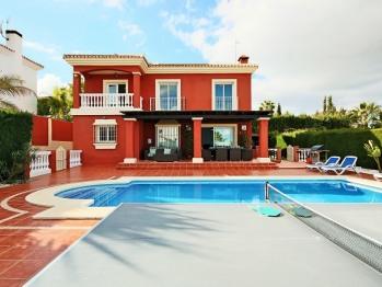 Villa and pool area