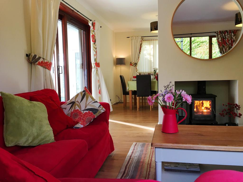 Lovely lounge with wood burning stove. Fuel FOC.