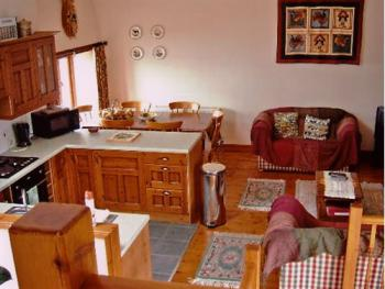 Open plan area in Frankaborough cottage