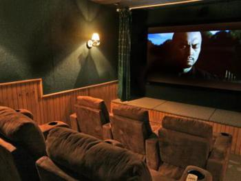 Enjoy our 9-person theatre; choose a dvd from our large (somewhat eclectic!) collection or bring your own. You can also enjoy cable tv here.