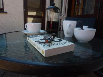 A cup of coffee outside