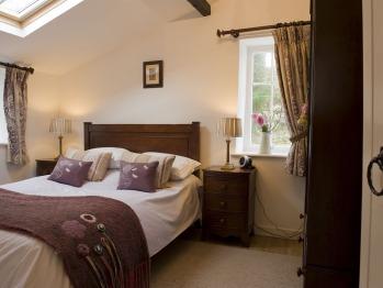 The master bedroom in Garden Cottage