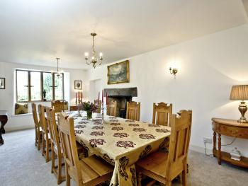 The comfortable dining room where breakfast is served each morning