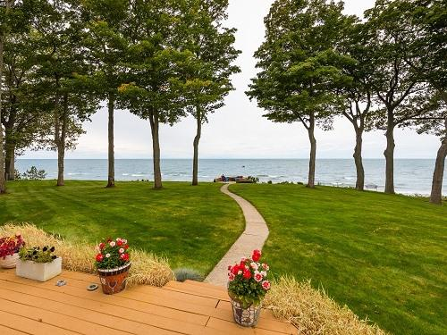 Deck and Lake Michigan