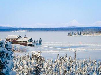 Winter View of Lodge
