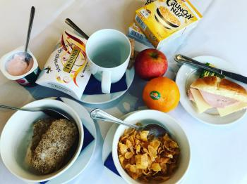 In rooms snacks and light breakfast options FREE of charge