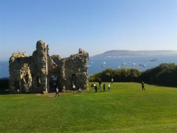 16th century castle on coastal walk in Weymouth