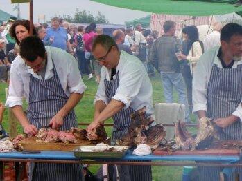 Lamb roast at the Goose Fayre
