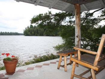 The Bowling alley also features a private porch with a nice lake view