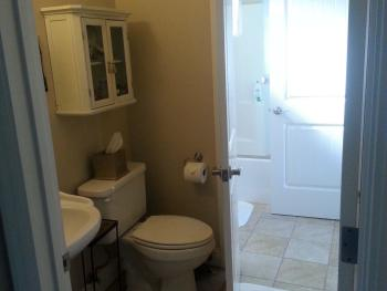 The Suite's bathroom - Access from both the bedroom and living room of the Suite