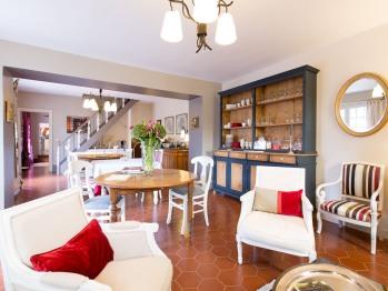 Salle à manger au Domaine de la Frênaie