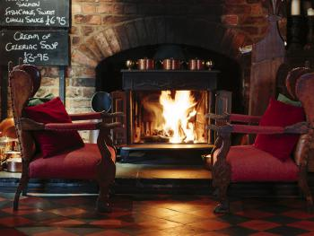 One of the roaring fires at The Durham Ox