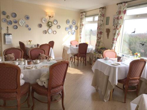 Breakfast room with great views. (From conservatory door)