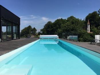 La piscine Quartz, couloir de nage de 16X3,50m.