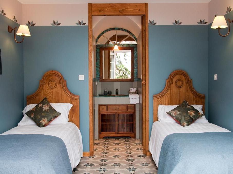 Twin-Tulum-Confort-Salle de bain et douche-Vue sur Jardin