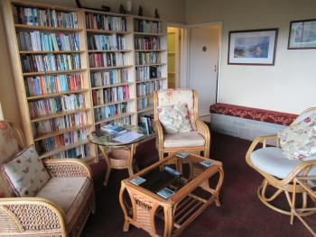 TV lounge and library