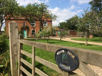 Orchard Garden at Willow Farm Cottage