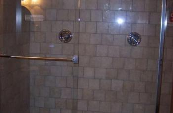 Enjoy the double shower in the FDR Suite