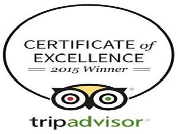 Awards - TripAdvisor.com 2015 - Certificate of Excellence