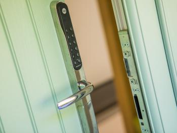 Door code entry system to house