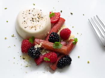 Vanilla bean and yoghurt  panna cotta