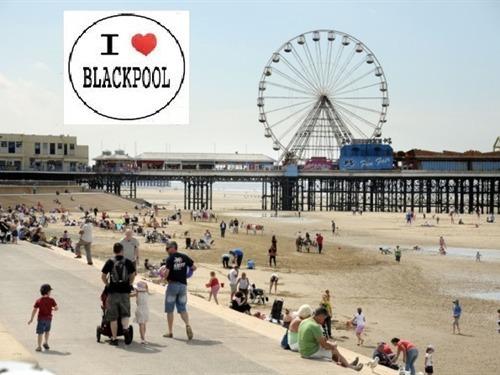Blackpool beach central pier