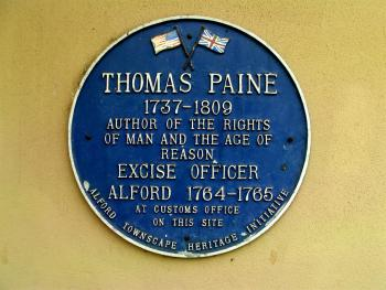 Plaque on outside wall