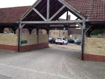 Our large secure car park to the rear of the hotel.