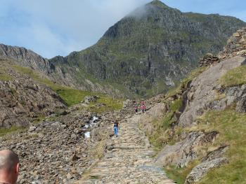 miners track up to Snowdon