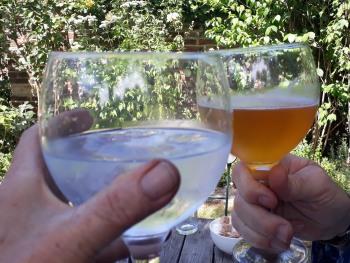 Enjoy a drink in the garden.