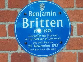 Britten House - Blue Plaque