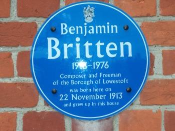 Britten House - Blue Plaque