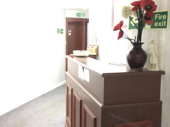 Reception area to welcome guests