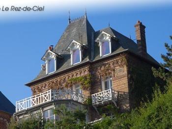 Le gite Ciel (façade côté mer).